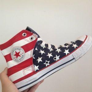 Converse USA America flag shoe 🇺🇸